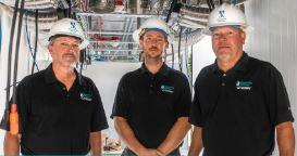 Assistant Director of Electric John Worrell, Electric Planning Engineer Kyle Brown, and Interim Director of Customer Relations